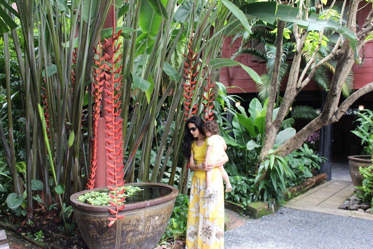 Giardino casa di jim thompson bangkok, fishball, jim thompson house
