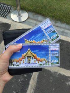 visitare il wat benchamabophit di bangkok, biglietti tempio di marmo