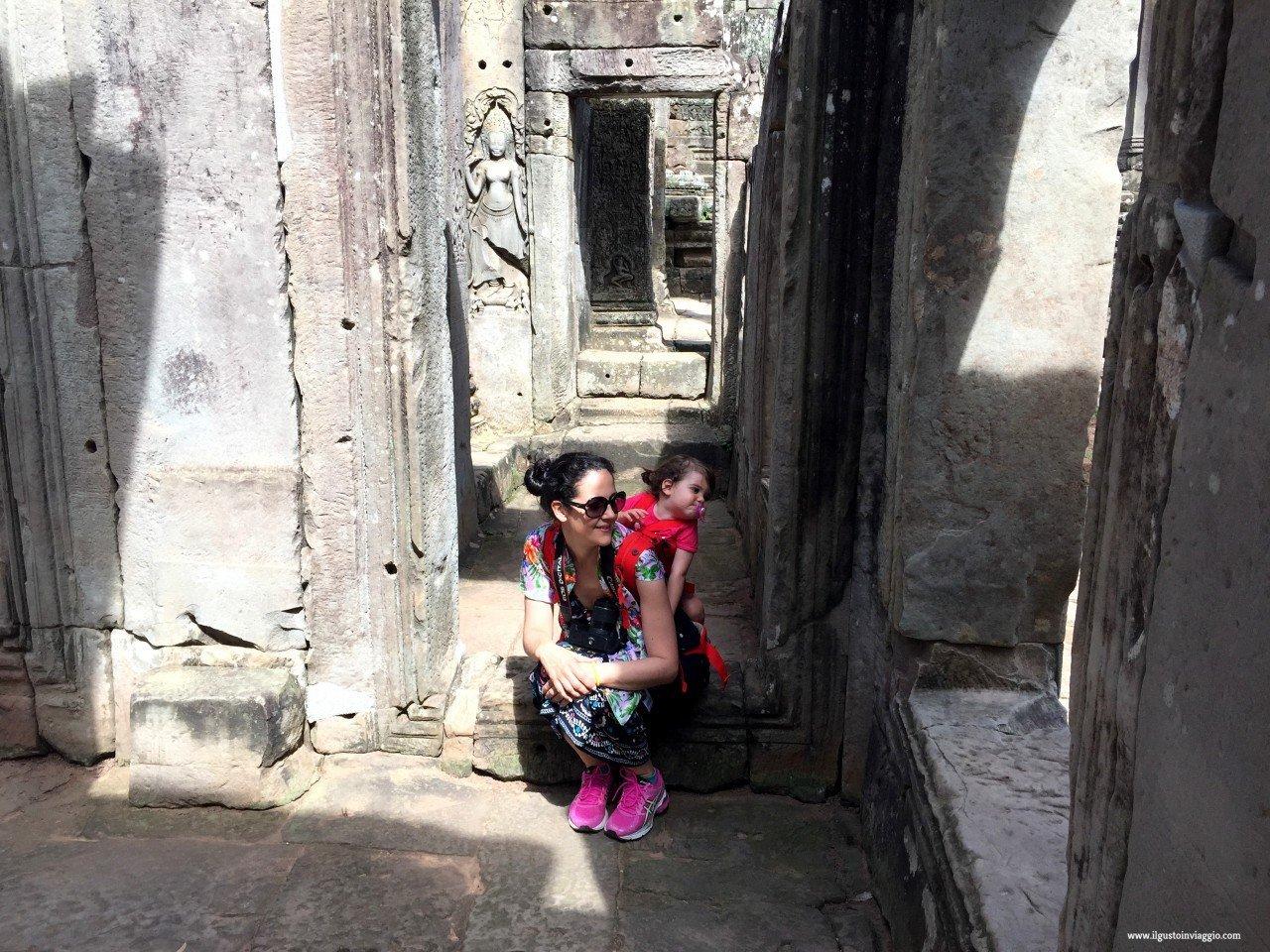 angkor wat con i bambini bayon