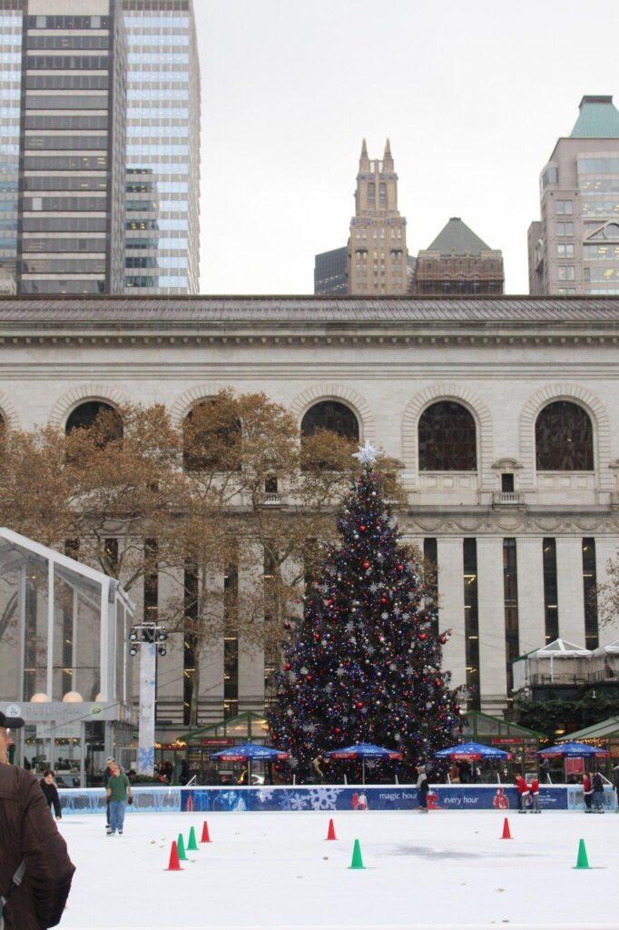 mercatini natale bryant park, mercatini natale new york, cosa fare a new york a natale gratis