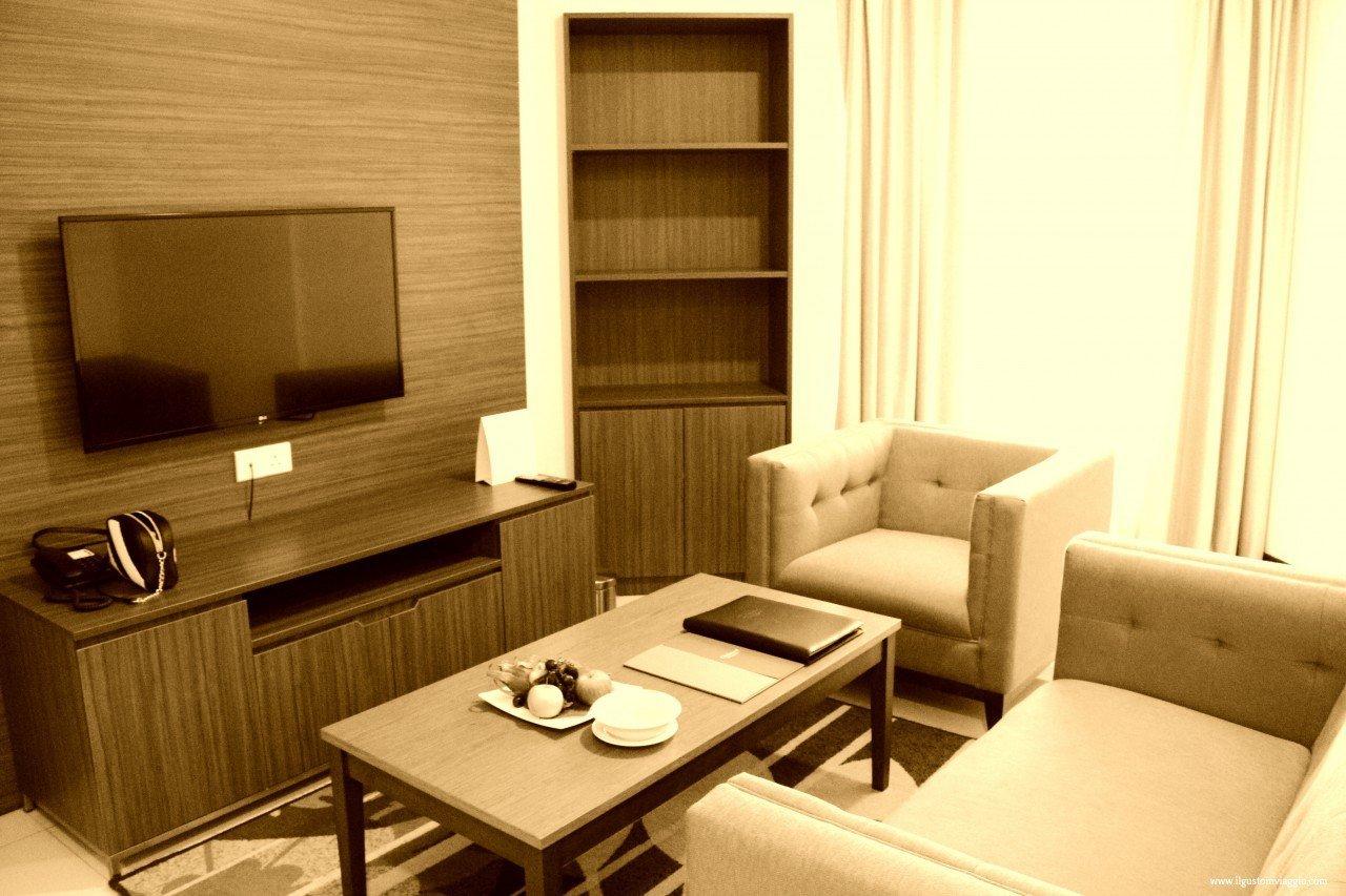 oakwood hotel kuala lumpur, living room, dove cormire a kuala lumpur con i bambini