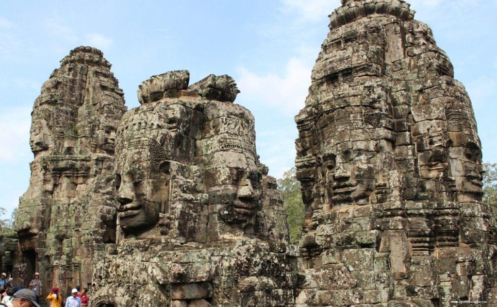 visitare angkor wat ed il piccolo circuito, angkor wat con i bambini, bayon temple cambodia