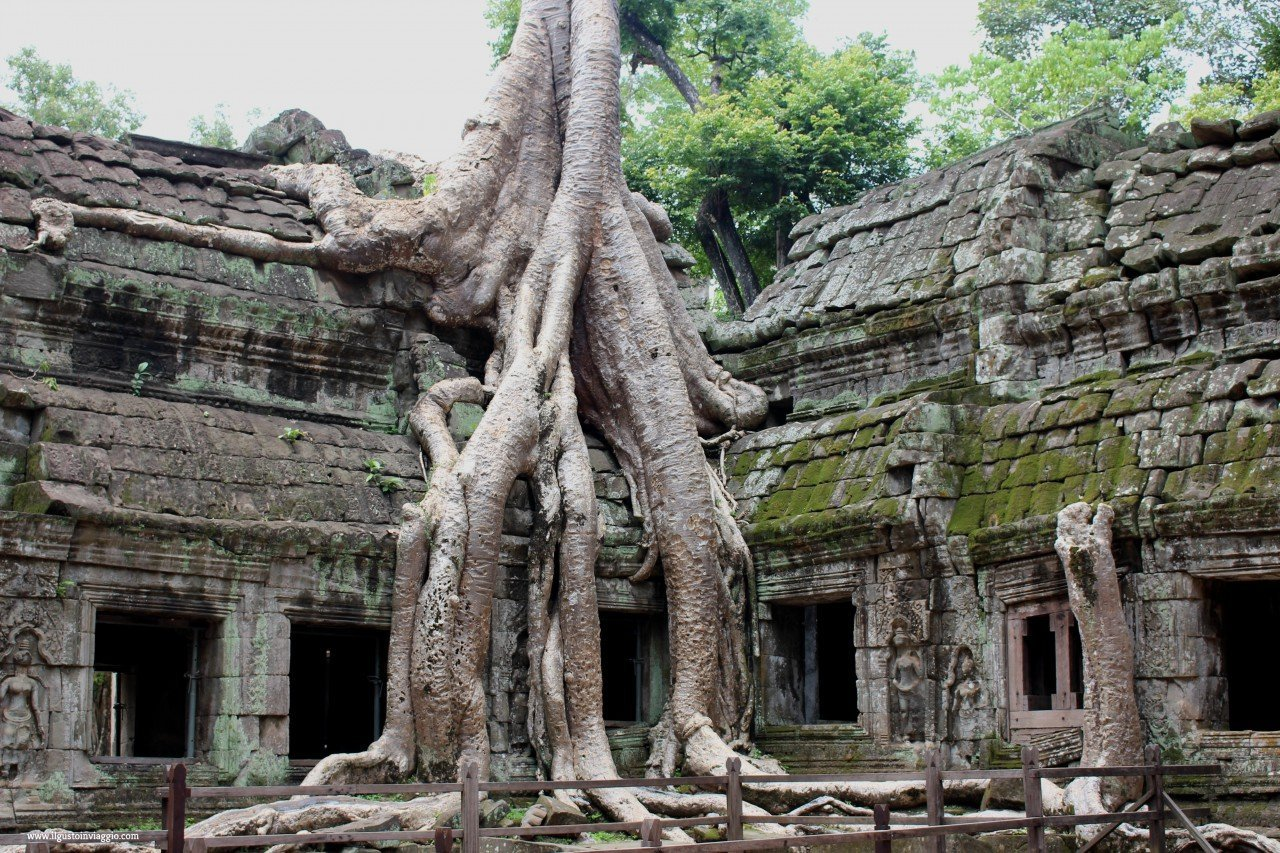 ta phrom tomb raider location, angkor wat ed il piccolo circuito