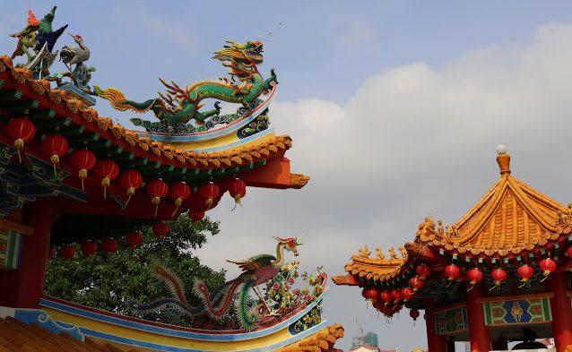 visitare il thean hou temple di kuala lumpur, naga, drago cinese