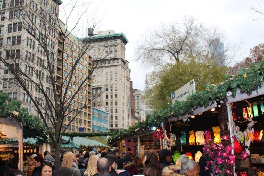 mercatini di natale columbus circle, mercatini di natale di new york