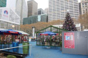 mercatini di natale di new york, bryant park natale