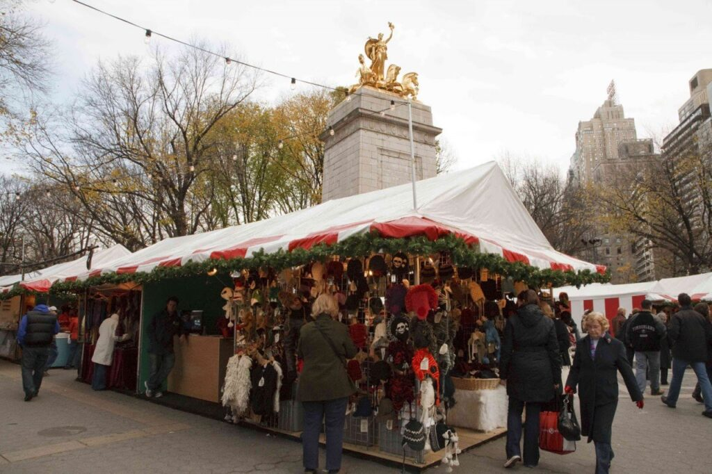 mercatini di natale di new york, columbus circle