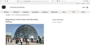 prenotare i biglietti per il parlamento tedesco, bundestag registration online