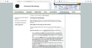 come prenotare i biglietti per il parlamento tedesco, biglietti online per il bundestag