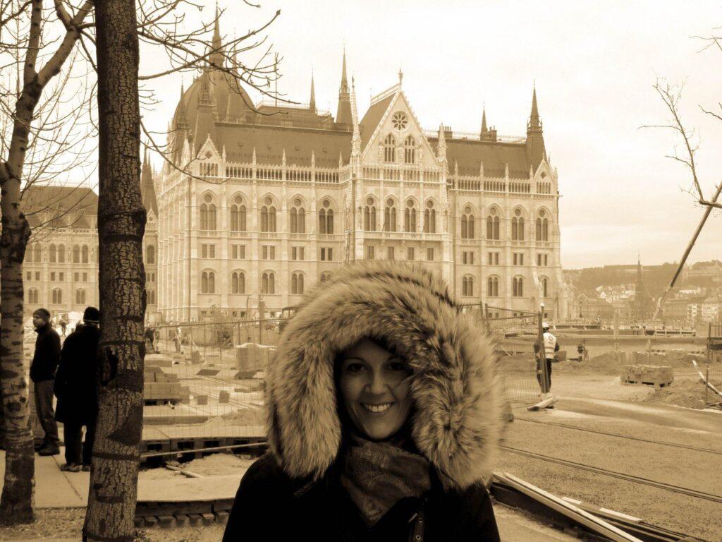 parlamento budapest, seppia foto invecchiata