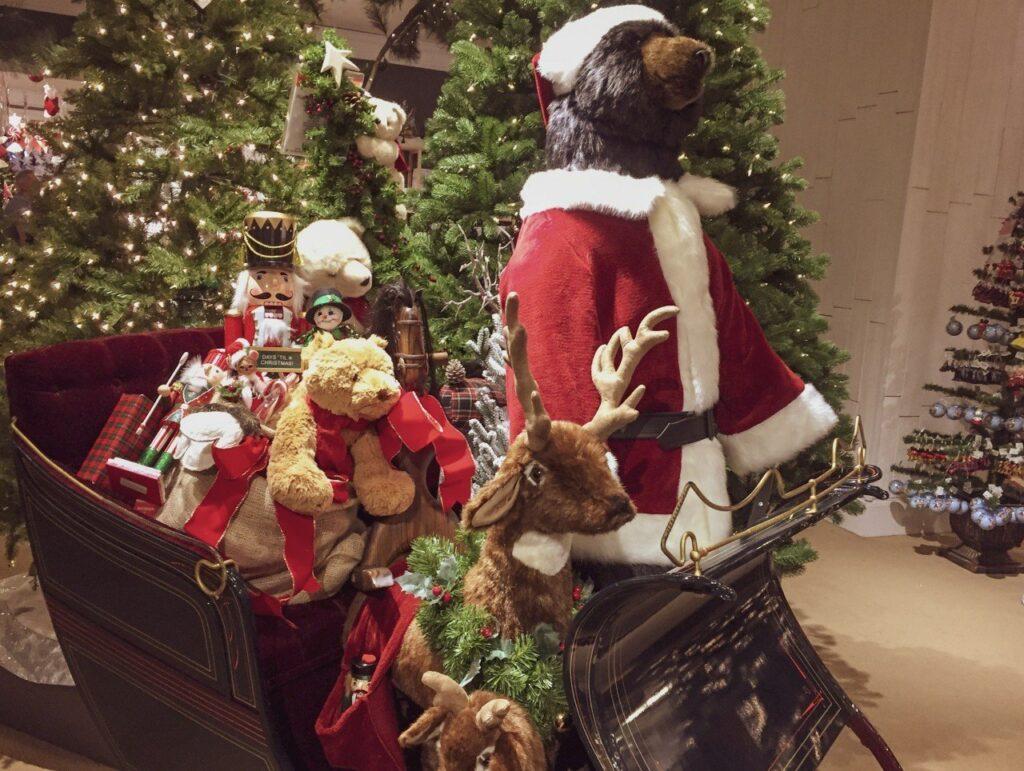 bear, christmas bear, babbo natale da macy's, santaland