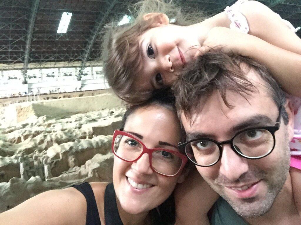 esercito di terracotta con i bambini
