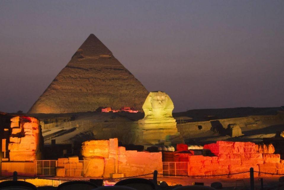 assistere allo spettaccolo suoni e luci alle piramidi