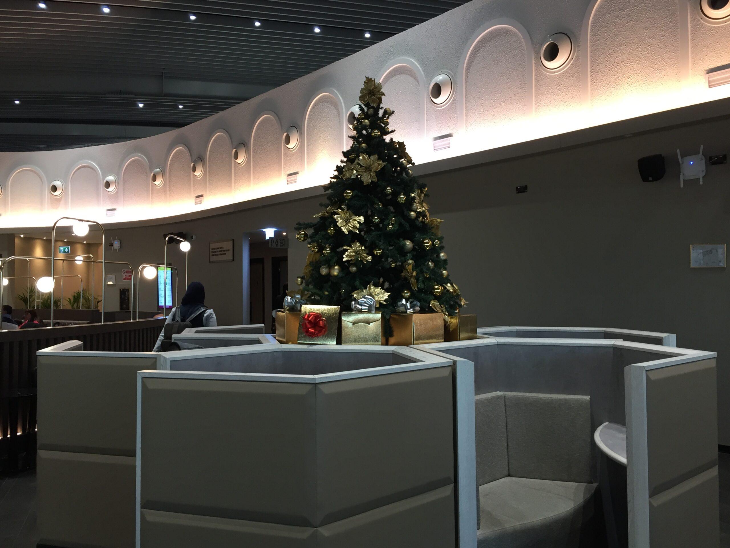 Natale in aeroporto, Natale alla Plaza Premium Lounge